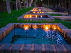 Candles and reflections (omidmohammadi2) Tags: candles reflection water park museum tehran iran tourism romantic negarestan