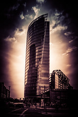 Robert Emmerich - 72 HDR  Bahntower - Dark sky at Potsdamer Platz in Berlin - Germany_v0 (Robert Emmerich Photography) Tags: 2014 40d berlin canon eos emmerich europeanphotography filter ir infrared juli lightroom re robert robertemmerich sommer stuckinberlin berlinerfotografen dslr hotday july photography photomaniagermany summerd hdr hdrphotography hdrphotographers hdrtheworld nightphotography potsdamerplatz tower irfilter red infra analog bahntower skyscraper hochhaus sky paint painted potsdamer platz germany lights europeanphotography cityscapephotography photoshop moon city streetphotography europeanphotography