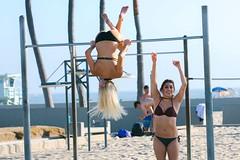 At Muscle Beach (jdlasica) Tags: venicebeach venice venicecalifornia southerncalifornia beach losangeles summer summervacation 2016 musclebeach fitness exercise girlpower workout bikini girls women