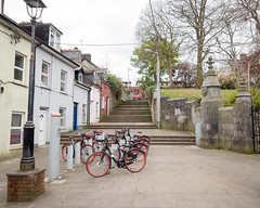 Rental Bikes (Peter E. Lee) Tags: stone spring bicycle roi ireland bikerental stair fence republicofireland cork 2016 ire eire cokezero ie