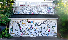 Graffiti on Garage Doors - Montreal (Exile on Ontario St) Tags: montral streetart garagedoor urbain urban street montreal monkland portedegarage garage porte door painting peinture graffiti beautiful art rue couleurs colors colours color colour wall mur portes murale murals mural murales walls paint orphelinat orphanage ruedelorphelinat throw up throwup writing writers msteri ndg notredamedegrce notredamedegrace notre dame grce grey gray gris