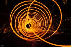 Light tunnel ( Janine ) Tags: 2016 january januar germany deutschland saxonyanhalt sachsenanhalt longexposure langzeitbelichtung lightpainting abandoned abandonedchurch night nightphotography lighttunnel tunneloflight lichttunnel