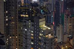 Urban jungle (dichiaras) Tags: hong kong metropolis skyscraper lights night asia china density vertical tall psychedelic dri digital blending