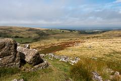 Dartmoor moorland view (Keith in Exeter) Tags: dartmoor nationalpark devon england moorland landscape hill granite rock outcrop tor wintertor grass bracken rushes clouds outdoor