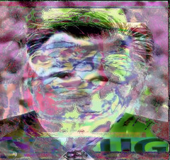 Portrait of Ayn Rand, Ronald Reagan and Mitt Romney'.tif (Rob Goldstein -Thanks for your support) Tags: abstract aynrand mitt romney color colorgrading california contrast colorful bright edie sedgwick photoshop photoprocessing photomorphing awesome best blogging beautiful bobbyormega artbyrobgoldstein foto morphing