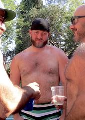 IMG_7905 (danimaniacs) Tags: party shirtless man guy sexy hot bear beard scruff hat cap hairy