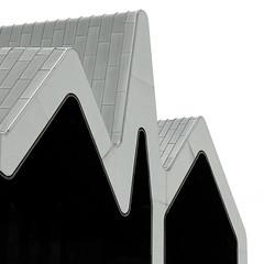 - Riverside Museum - (Jacqueline ter Haar) Tags: glasgow riversidemuseum square format architecture zahahadid zincclad zigzag roof contrast explore