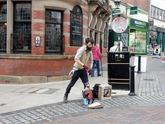 Preston (deltrems) Tags: preston city centre lancashire busker music musician street entertainer marionette puppet blackhorse pub bar inn tavern hotel hostelry black horse