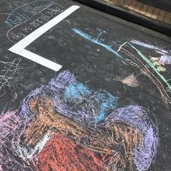 Glow Devonport Open Street - Clarence Street. (shessassy) Tags: devonport artweek auckland chalk pavementart artweekakl