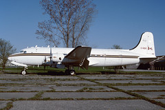 C-GQIC.CFYD020599copy (MarkP51) Tags: cgqic douglas c54e brantford cfyd ontario canada aviation airliner aircraft airplane plane image markp51 nikon kodachrome 64 slide film