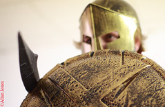 Hoplite (Allan Jones Photographer) Tags: hoplite helmet shield sword warrior ancientsoldier heavyinfantry ancientgreece hellenic hellinictypesoldier allanjonesphotographer canon5d3 canonef50mmf14usm bokeh narrordepthoffield jacksmart flickrclickx
