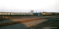 c.03/1972 - York. (53A Models) Tags: britishrail deltic class55 9016 gordonhighlander class31 5600 clas25 diesel passenger york yk tmd train railway locomotive railroad