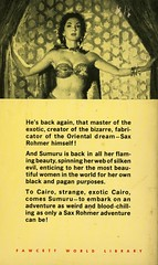 Gold Medal Books 868 - Sax Rohmer - Return of Sumuru (back) (swallace99) Tags: goldmedal vintage 50s fantasy paperback jamesmeese