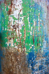 Tanks For The Memories (Chris Huddleston) Tags: surface blue color tank paint abstract scratch green aged noperson scratched texture