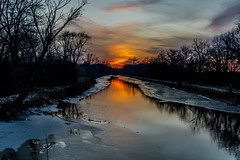 Three nights in a row (114berg) Tags: sunset canal illinois hennepin geneseo 30november14