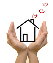 Hands protecting drawn house, hearts coming out of chimney (nrasproperty226) Tags: new family woman white house home architecture female finland real construction holding hand open estate apartment heart symbol sale background small property plan security structure palm business architect human deal buy secure concept rent care conceptual build sell residential success selling investment purchase insurance isolated hold loan banking mortgage ownership construct