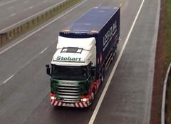 H6863 - PO14 VFT (Cammies Transport Photography) Tags: truck lorry deborah eddie flyover scania jazzmine esl m74 lockerbie stobart eddiestobart r440 h6863 po14vft