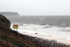 Path to the beach... (Cumberland Patriot) Tags: sea irish cliff beach danger high waves path south tide wave away cliffs shore keep footpath whitehaven solway firth