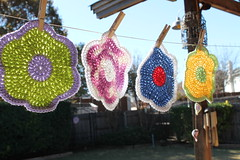 Cotton Dishcloths (Pammy Sue1) Tags: kitchen handmade crochet yarn dishcloth cotton potholders dishrags