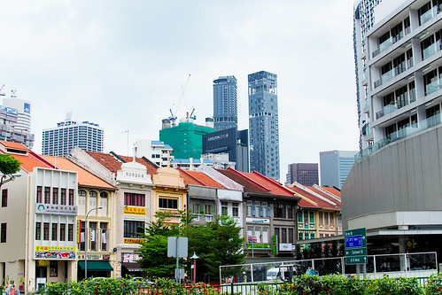 Daytime View of Singapore Chinatown