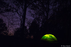 Sleeping With Pharoahs (GlobalGoebel) Tags: longexposure trees light camp sky 3 night forest canon stars eos illinois mark iii gardenofthegods tent nationalforest 5d campground shawnee rei pharoah litup southernillinois mark3 markiii 24105mm canonef24105mmf4lisusm reihalfdometent