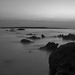 Leaving no trace (Hameem Shakhawat) Tags: longexposure sunset sea beach coral saintmartin tide bangladesh chittagong coralbeach d90 coralisland teknaf hameem tokina1116 hameemshakhawatshameem cokinp121mgnd4