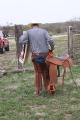 WRANGLER COWBOY (AZ CHAPS) Tags: ranch leather spurs cowboy desert boots wranglers chaps saddle corral