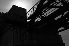 Dömitz Eisenbahnbrücke (PHOTOGRAPHICS Arno Schildt) Tags: bw sw brücke elbe gegenlicht dömitz