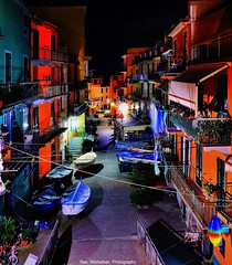the streets of manarola (Rex Montalban Photography) Tags: italy night europe liguria cinqueterre manarola hdr rexmontalbanphotography