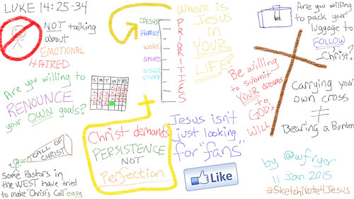 Sketchnote about Luke 14 by Wesley Fryer, on Flickr