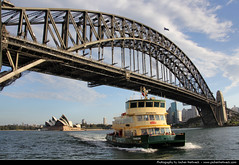 View from Milsons Point, Sydney, Australia (JH_1982) Tags: new bridge ferry wales point puente boat harbour south sydney australia ponte nsw australien baa milsons australie baha     cu   cng      sdney