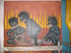 Graphic Depiction of Hell in Aluvihare Rock Temple