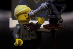 Astronomy (Reiterlied) Tags: woman female lab lego science institute telescope research astronomy minifig ideas minifigure astronomist legography