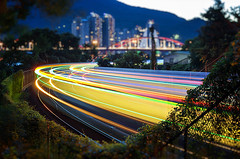 臺北關渡車軌 - Guandu MRT - Taipei TAIWAN (urbaguilera) Tags: park city bridge blue light car train river twilight nikon exposure nightscape riverside daniel taiwan double hour taipei mrt 城市 railways 夜景 臺灣 aguilera 河濱公園 danshui guandu 淡水河 捷運站 關渡大橋 關渡 火車 光影 美麗 臺北市 trais 車軌 urbaguilera 藍色時刻
