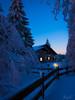 silent night (nils stefan püschel) Tags: trees winter house snow forest canon germany thüringen bluehour wald thüringer explore33