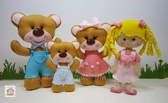 <3 Caracóis de ouro e os 3 ursos (sweetfelt \ ideias em feltro) Tags: feltro crianças festas decora4ão caracóisdeouroeos3ursos