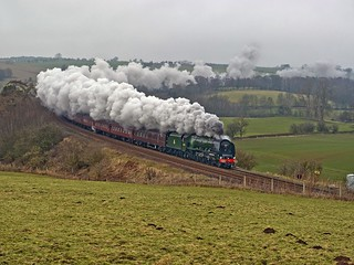 LMS Coronation Class 4-6-2 No 46233 Duchess of Sutherland in charge of