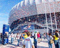 RBA Red Bull Arena, Harrison, New Jersey: Grand Opening - March 20, 2010 (jag9889) Tags: red brazil people woman usa ny newyork game brasil lady festive football newjersey harrison unitedstates fussball cathedral stadium soccer unitedstatesofamerica nj exhibit brasilien bulls exhibition historic confetti arena tape santos friendly fans spectators venue futbol msg redbull gardenstate openingday 2010 inaugural metrostars ticker mls majorleaguesoccer march20 hudsoncounty rba redbulls newyorkredbulls foxsoccerchannel y2010 redbullarena 20100320 newyorkredbullscom msghd redbulls3santosfc1 jag9889
