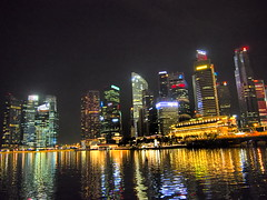 Singapore silouette by night!