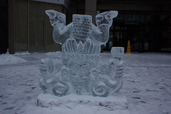 Icefest 27 (codie_horse) Tags: toronto statues talent wintertime yorkville icecarving frozenintime 2015 ancientegyptian blooryorkville 10thyear madeofice 10thannualicefest icefest15 bloorandyorkville