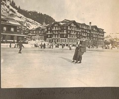 The Connells  Ice Skating at Murren Switzerland 1912 (Bury Gardener) Tags: ladies ice lady vintage switzerland europe iceskating skating skaters 1912 oldies murren