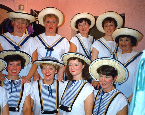1994 Dick Whittington 01 (back from left Barbara Woodhouse, Cheryl McClure, Gill Travis, Linda Ellis, Ann Brothers, front Pauline Milner, Julie Kitchen,Lyn Loxley,Lorraine Lightfoot)