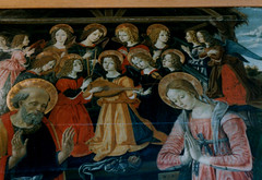 Perugia, Umbria, Galleria Nazionale dell'Umbria, painting with music (groenling) Tags: santa italy saint museum angel painting joseph san italia gallery maria mary birth it lorenzo fiddle museo angelo harp viola perugia nativity arpa galleria lute umbria giuseppe pittura dipinto fior liuto nativitas gallerianazionaledellumbria mmiia nativitate