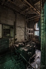 Creeping Emerald In The Anteroom (billmclaugh) Tags: newyork abandoned industry photoshop canon rust industrial factory explore machinery adobe ii urbanexploration usm ef hdr highdynamicrange boiler contraptions tse onone lightroom unioncarbide urbex tiltshift 2470mm markiii 17mm f4l photomatix f28l thingamajigs promotecontrol perfecteffects