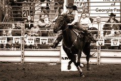 Barrel Racing Cowgirl (abrwr) Tags: horse ga rodeo cowgirl perry febuary 2015 barrelracing gnfa ganationalrodeo 02212015 rodeo2015 amandalbrewer