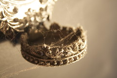 Golden Dust (tiki.thing) Tags: old silver gold mirror web gothic cobweb dust ornate