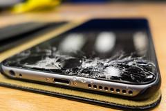 Smashed iPhone 6 plus (wZa HK) Tags: screen smashed cracked iphone iphone6 iphone6plus