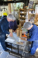 Bagging flour at Holgate Windmill (2)