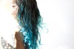 Predators (starsurvivor) Tags: blue portrait selfportrait water tattoo ink hair tattoos selfshot interno7 girlswithtattoos inkedgirls
