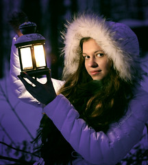 beautiful girl on winter forest with lantern (dan.chepko) Tags: christmas camera blue winter girls light portrait people white snow playing cold tree cute eye love lamp girl beautiful face hat weather childhood smiling closeup female scarf laughing hair season fun outdoors togetherness clothing women child looking friendship little sister joy young happiness human lantern cheerful enjoyment forestpark caucasian
